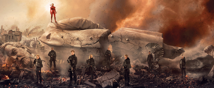 """The Hunger Games: Mockingjay – Part 2"" Production Still & Banner"